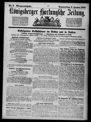 Königsberger Hartungsche Zeitung vom 03.01.1918