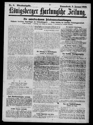 Königsberger Hartungsche Zeitung vom 05.01.1918