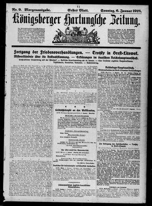 Königsberger Hartungsche Zeitung vom 06.01.1918
