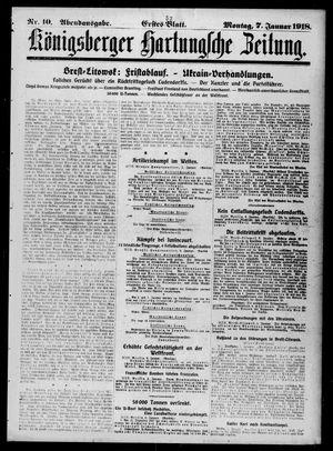 Königsberger Hartungsche Zeitung vom 07.01.1918