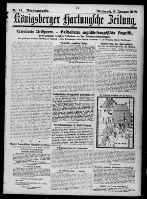 Königsberger Hartungsche Zeitung on Jan 9, 1918