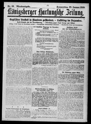 Königsberger Hartungsche Zeitung vom 10.01.1918