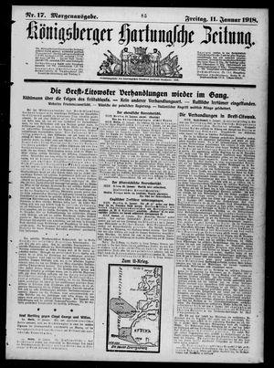Königsberger Hartungsche Zeitung on Jan 11, 1918