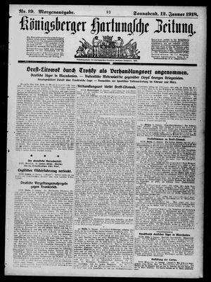 Königsberger Hartungsche Zeitung vom 12.01.1918