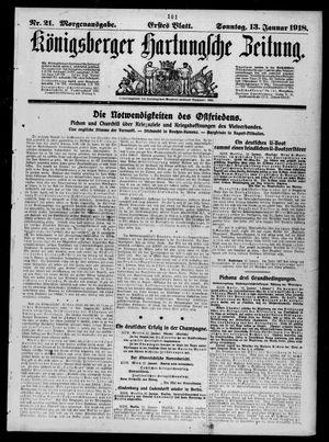 Königsberger Hartungsche Zeitung vom 13.01.1918