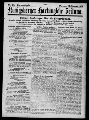 Königsberger Hartungsche Zeitung vom 14.01.1918