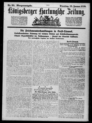 Königsberger Hartungsche Zeitung vom 15.01.1918
