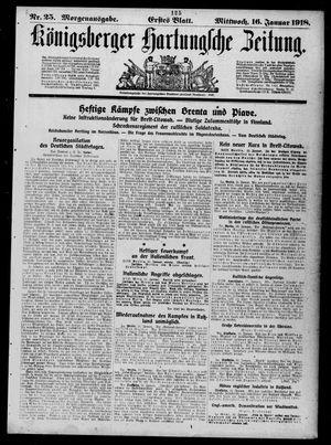 Königsberger Hartungsche Zeitung vom 16.01.1918