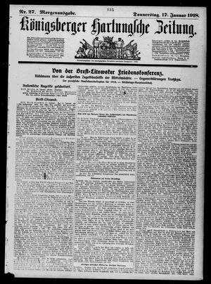 Königsberger Hartungsche Zeitung vom 17.01.1918