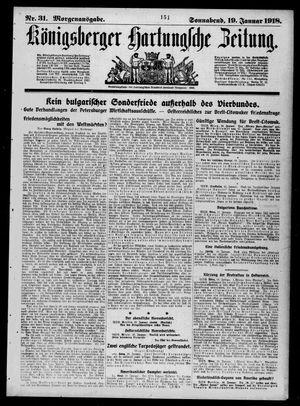 Königsberger Hartungsche Zeitung vom 19.01.1918