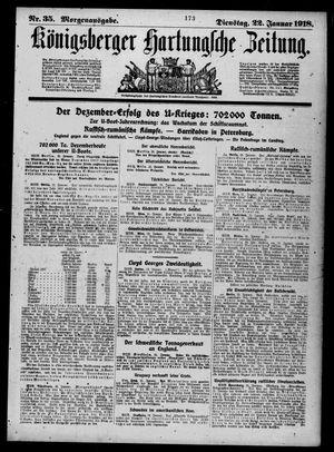 Königsberger Hartungsche Zeitung on Jan 22, 1918