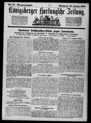 Königsberger Hartungsche Zeitung vom 23.01.1918