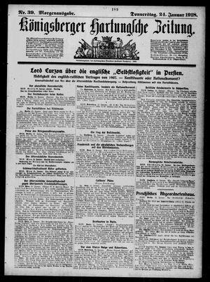 Königsberger Hartungsche Zeitung vom 24.01.1918