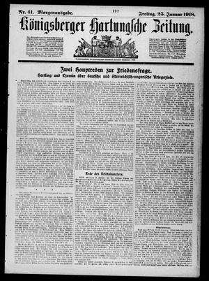 Königsberger Hartungsche Zeitung vom 25.01.1918