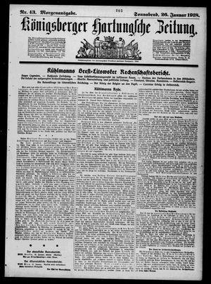 Königsberger Hartungsche Zeitung vom 26.01.1918