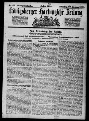 Königsberger Hartungsche Zeitung vom 27.01.1918