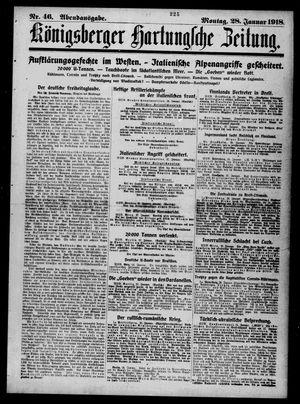 Königsberger Hartungsche Zeitung vom 28.01.1918