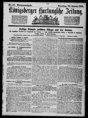 Königsberger Hartungsche Zeitung vom 29.01.1918