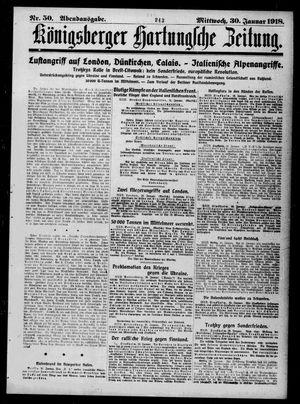 Königsberger Hartungsche Zeitung vom 30.01.1918