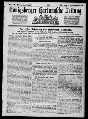 Königsberger Hartungsche Zeitung vom 01.02.1918