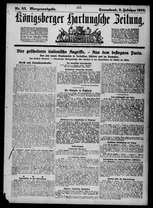 Königsberger Hartungsche Zeitung vom 02.02.1918