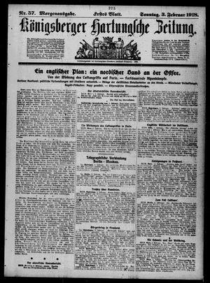 Königsberger Hartungsche Zeitung vom 03.02.1918