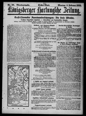 Königsberger Hartungsche Zeitung vom 04.02.1918