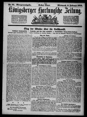 Königsberger Hartungsche Zeitung vom 06.02.1918