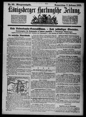 Königsberger Hartungsche Zeitung vom 07.02.1918