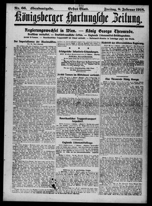 Königsberger Hartungsche Zeitung vom 08.02.1918
