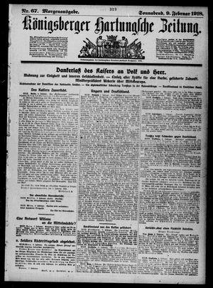 Königsberger Hartungsche Zeitung vom 09.02.1918