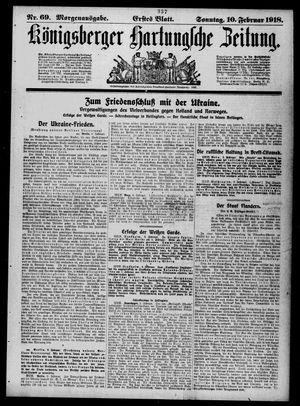 Königsberger Hartungsche Zeitung vom 10.02.1918