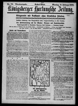 Königsberger Hartungsche Zeitung vom 11.02.1918
