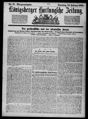 Königsberger Hartungsche Zeitung vom 12.02.1918