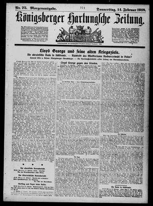 Königsberger Hartungsche Zeitung on Feb 14, 1918