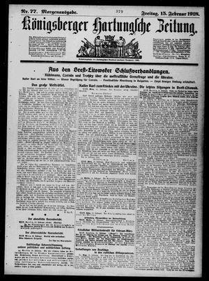 Königsberger Hartungsche Zeitung vom 15.02.1918