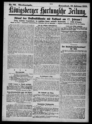 Königsberger Hartungsche Zeitung vom 16.02.1918