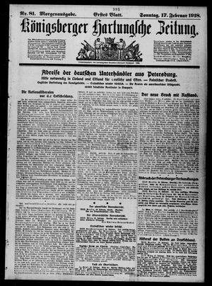 Königsberger Hartungsche Zeitung vom 17.02.1918