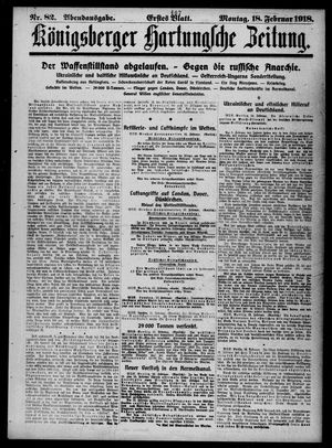 Königsberger Hartungsche Zeitung on Feb 18, 1918