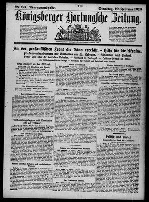 Königsberger Hartungsche Zeitung vom 19.02.1918