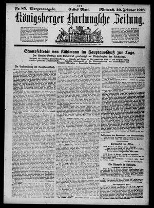 Königsberger Hartungsche Zeitung vom 20.02.1918
