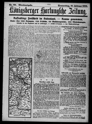 Königsberger Hartungsche Zeitung vom 21.02.1918