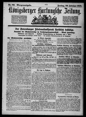 Königsberger Hartungsche Zeitung on Feb 22, 1918