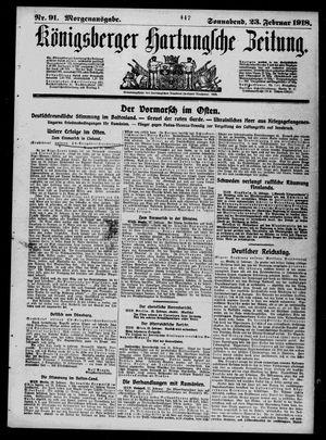Königsberger Hartungsche Zeitung vom 23.02.1918