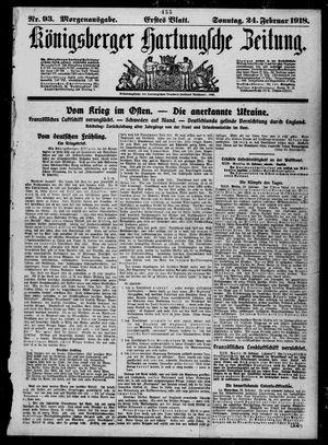 Königsberger Hartungsche Zeitung on Feb 24, 1918