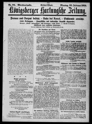 Königsberger Hartungsche Zeitung vom 25.02.1918