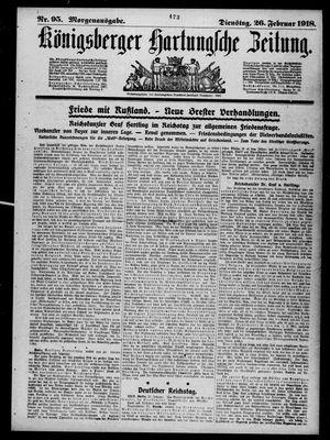Königsberger Hartungsche Zeitung vom 26.02.1918