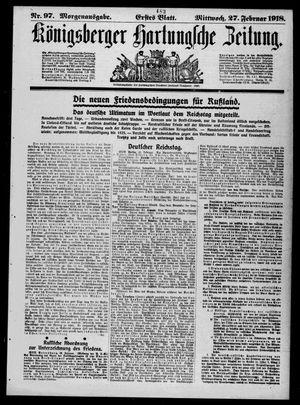 Königsberger Hartungsche Zeitung vom 27.02.1918