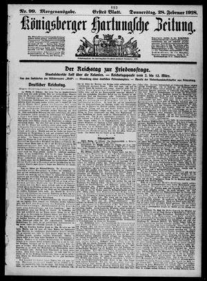 Königsberger Hartungsche Zeitung vom 28.02.1918