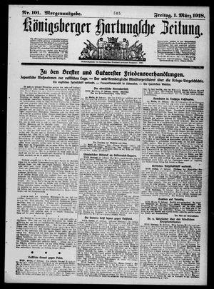 Königsberger Hartungsche Zeitung vom 01.03.1918